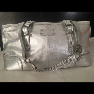 NWOT Metallic Silver The Sak Purse